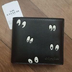 Coach x Disney 3-in-1 Wallet Black Eyes Print